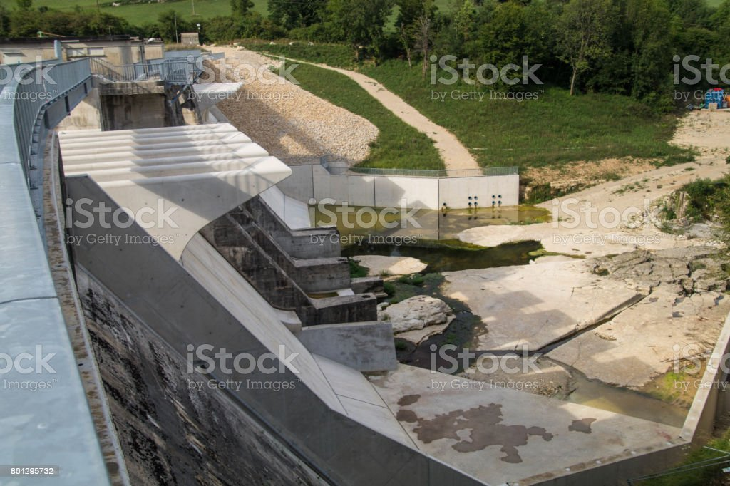 barrage de charmine,ain france royalty-free stock photo