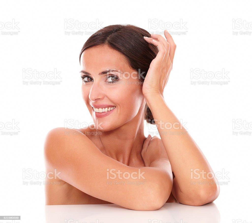 Charmante femme montrant sa pureté adulte - Photo