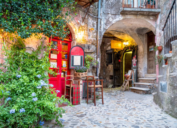 Rome - Calcata - Rural - Medieval - Ancient - Restaurant - No People stock photo