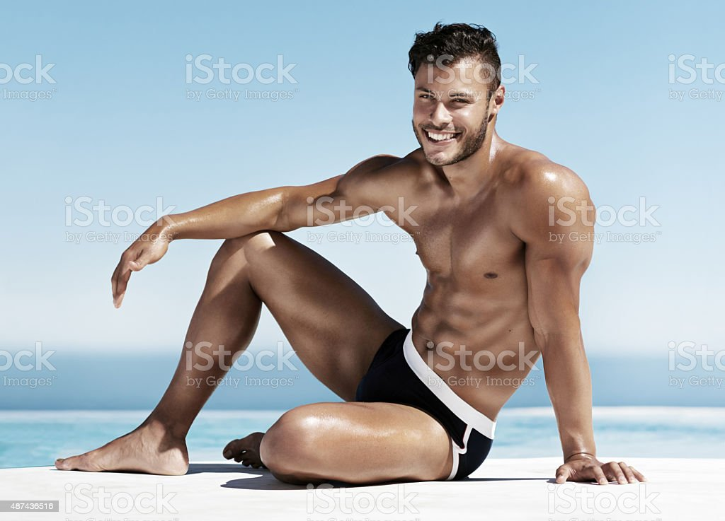 Charming and chiseled stock photo