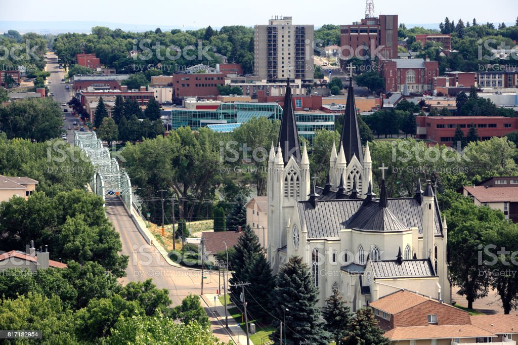 Charming And Picturesque Medicine Hat Alberta stock photo