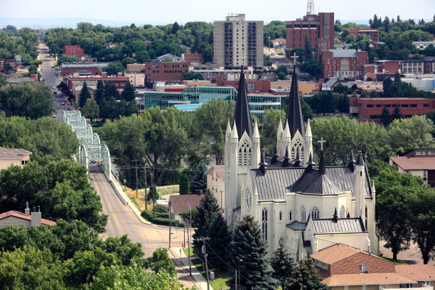 Charming And Picturesque Medicine Hat Alberta - foto stock