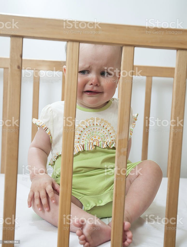 Charming baby indoor stock photo
