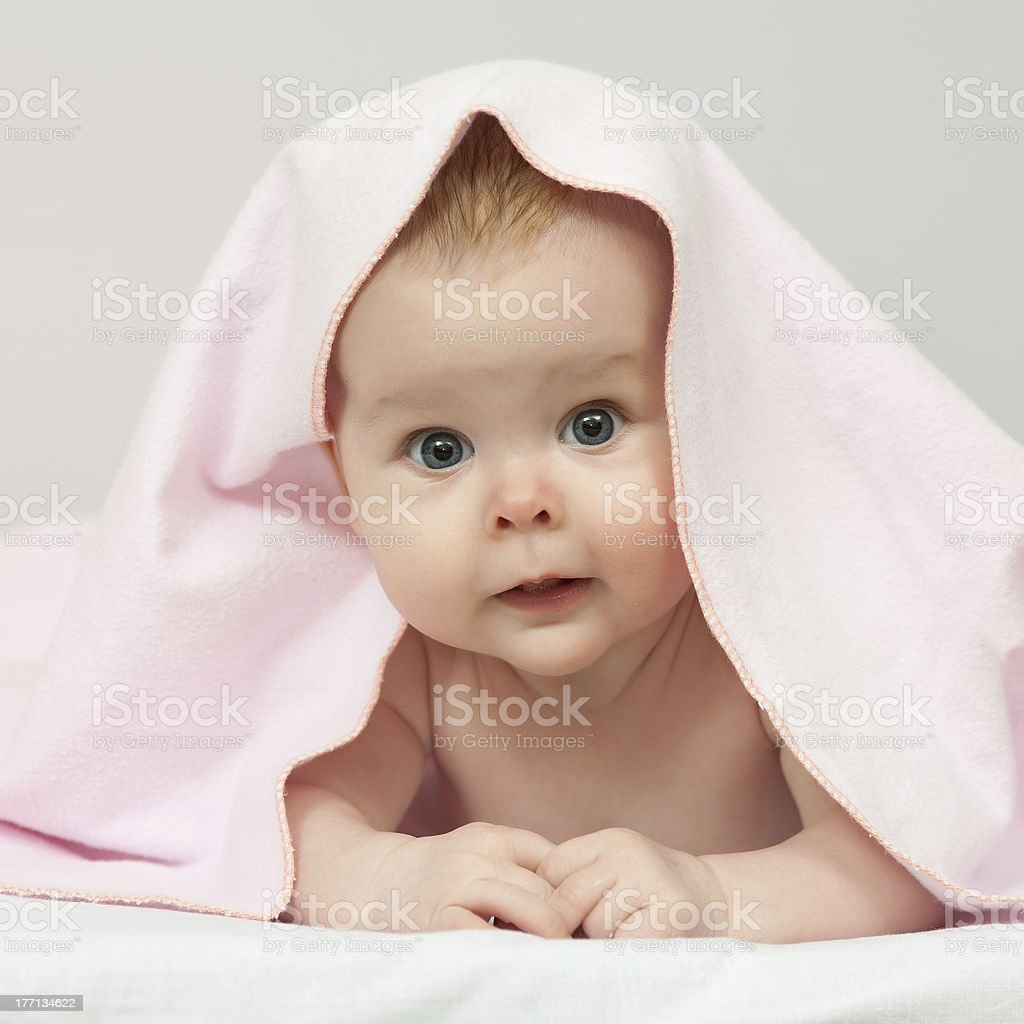 Charming baby stock photo