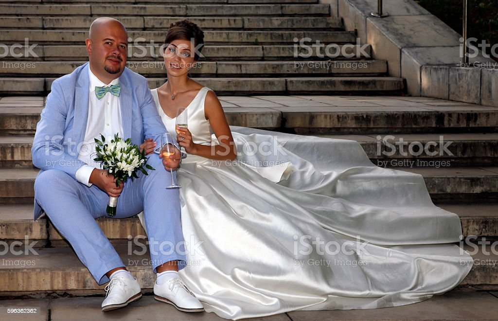 Charming bride and groom royalty-free stock photo