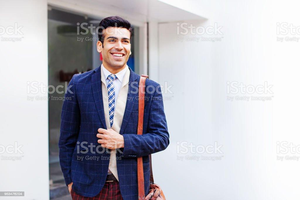 Charming businessman stock photo