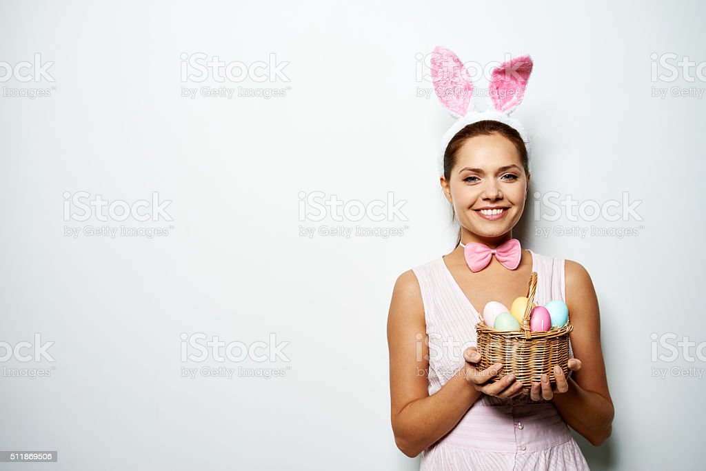 Charming Easter celebration stock photo