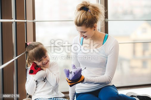 466808392 istock photo Charming family spends time in the gym 466812176
