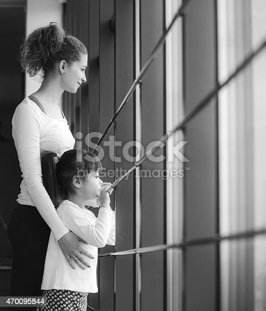 istock Charming family spends time in the gym 470095844