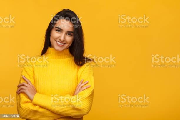 Charming female on yellow backdrop picture id936419870?b=1&k=6&m=936419870&s=612x612&h=jvvgyw2p mwlwotrwtkoy komlgsk76foxztwsmd0w4=