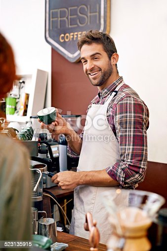 597640822 istock photo Charming his customers 523135915