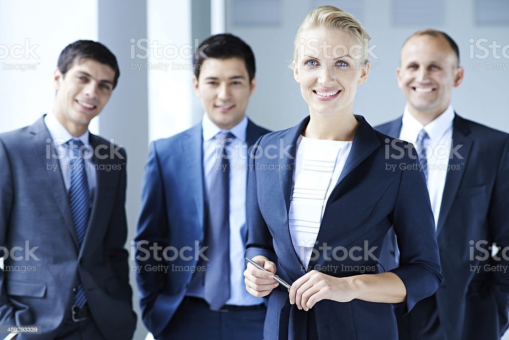 Charming leader stock photo