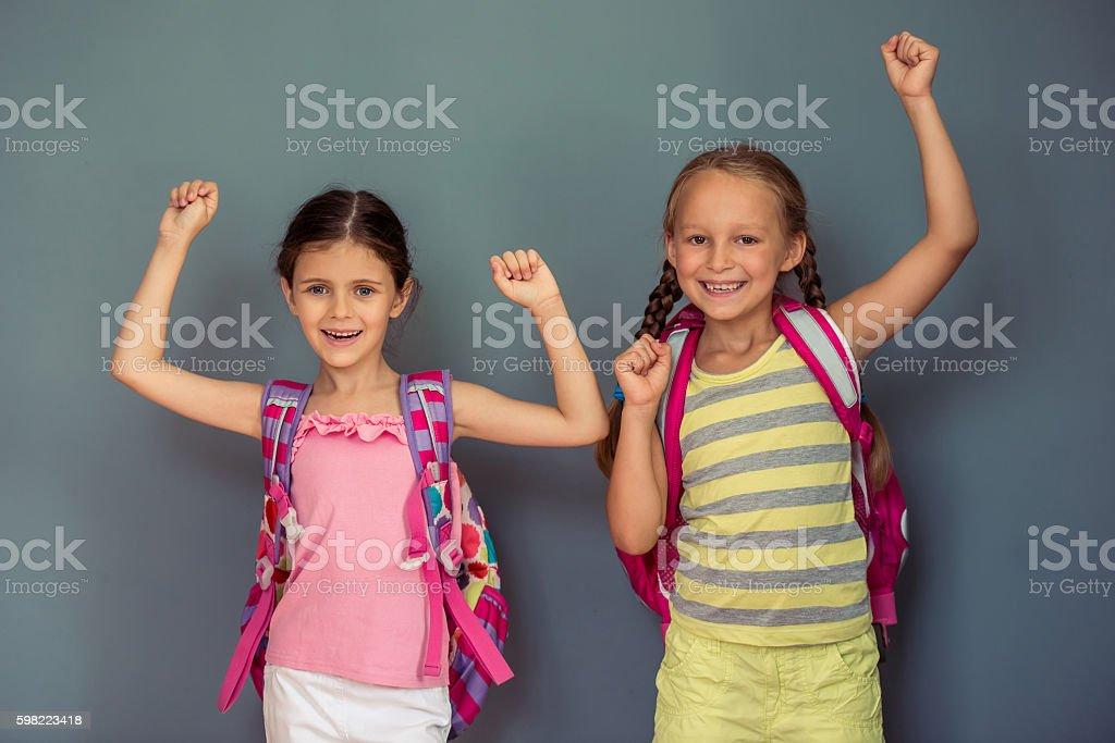 Charming little girls foto royalty-free