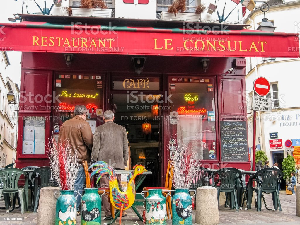 Charming Little Restaurant Le Consulat On Montmartre Hill In Paris France Stock Photo Download Image Now Istock
