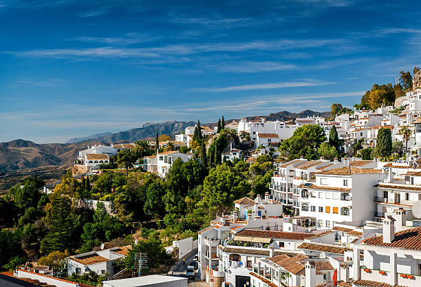 Charming little white village of Mijas Charming little white village of Mijas. Costa del Sol, Andalusia. Spain southern charm stock pictures, royalty-free photos & images