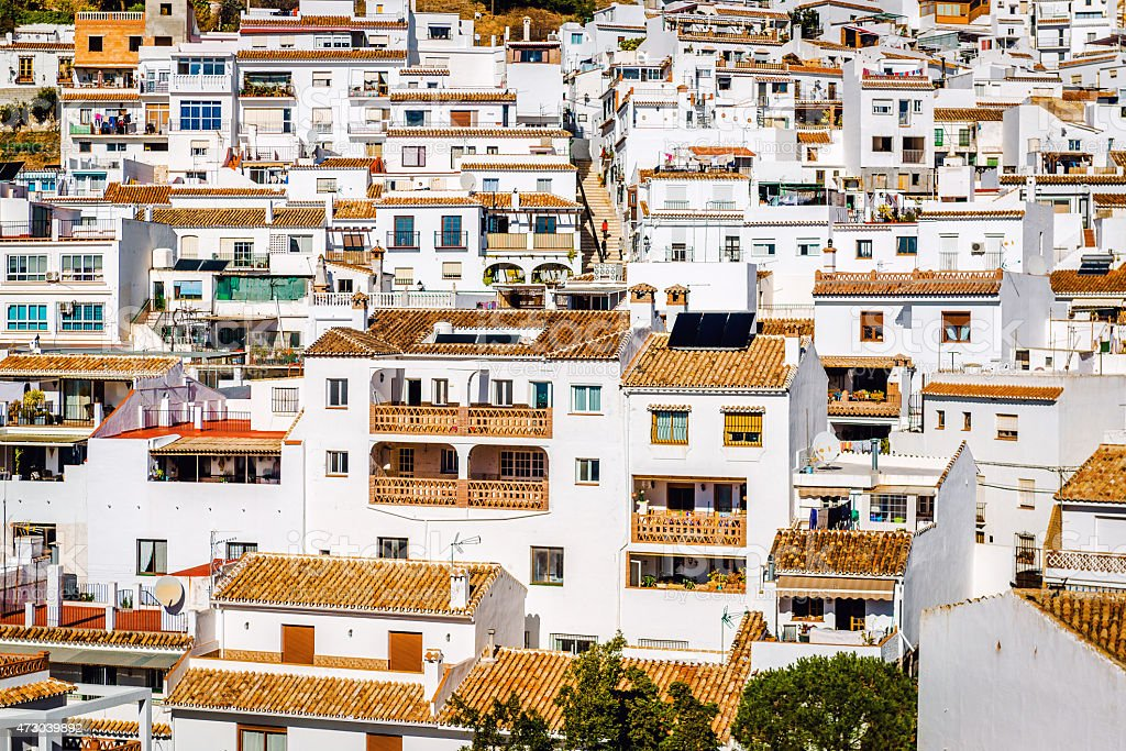 Charming little white village of Mijas stock photo
