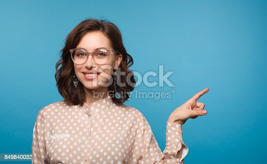 istock Charming model wearing eyeglasses 849840032