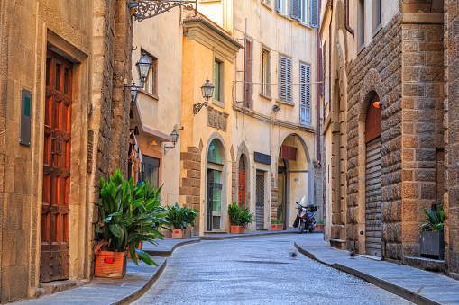 Charming narrow streets of Florence town