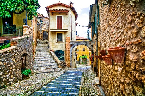 simple beauty of old medieval traditional villages of Italy