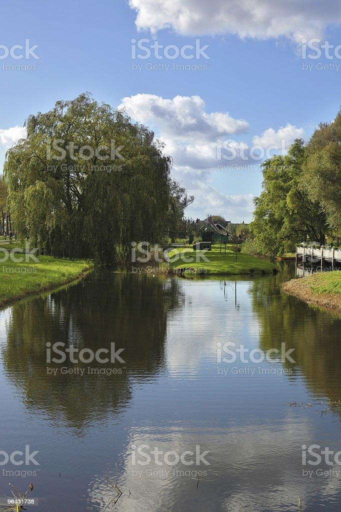 아름다운 공원, 작은 채널을 홀란트 royalty-free 스톡 사진