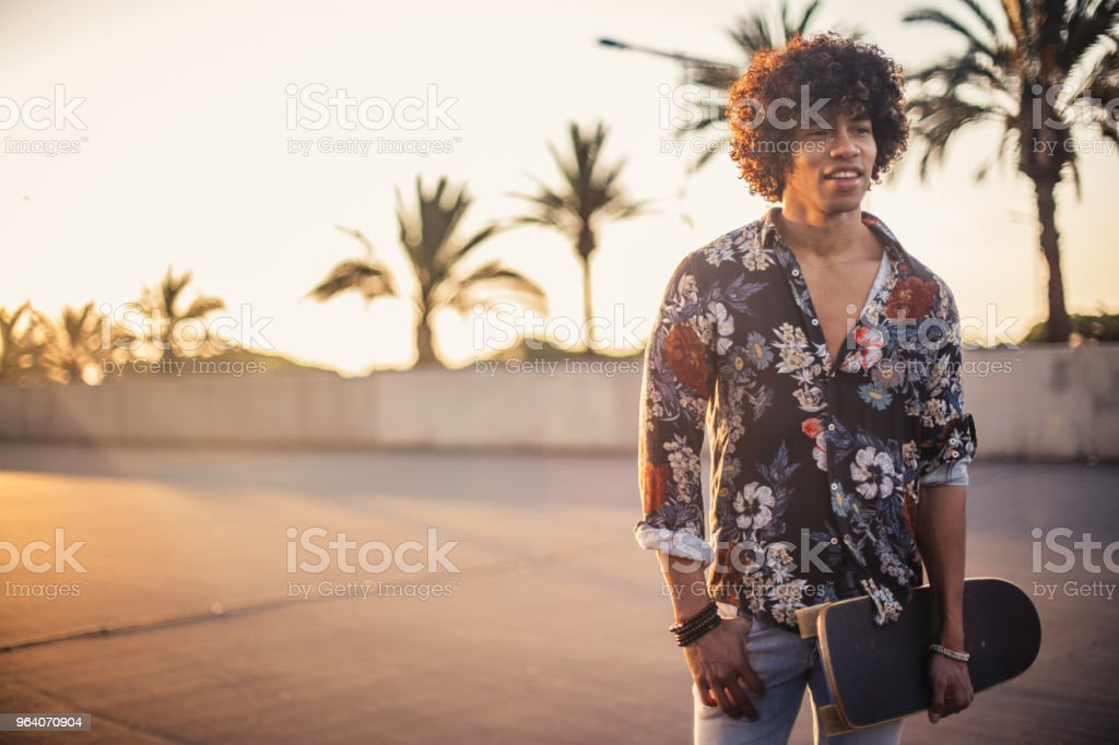 Charming skater guy - Royalty-free Adult Stock Photo