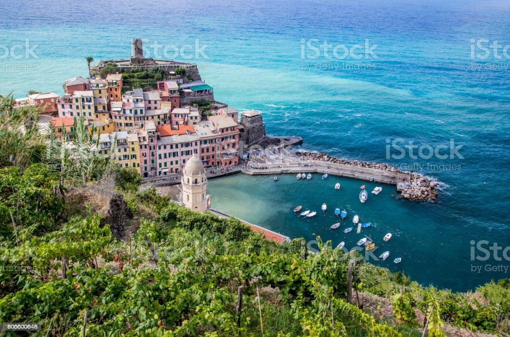 Charming Vernazza, Italy stock photo