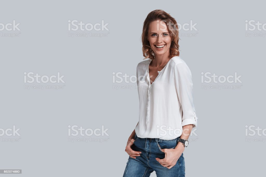 Charming woman. stock photo
