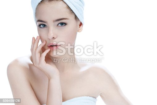 istock Charming young fashion model 539459126