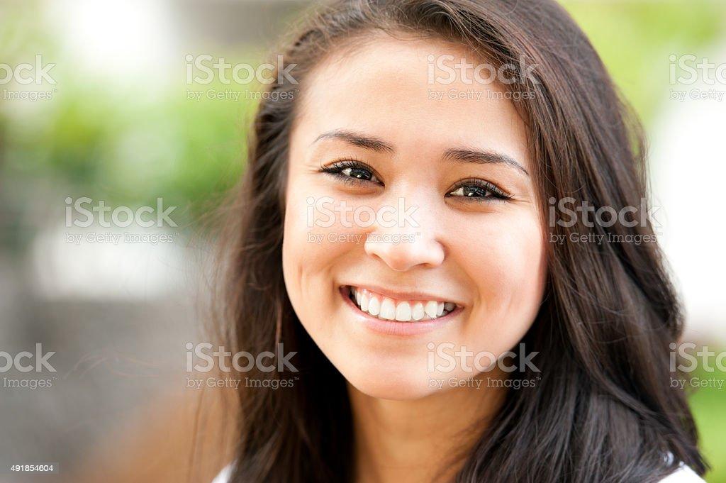 Charming young girl stock photo