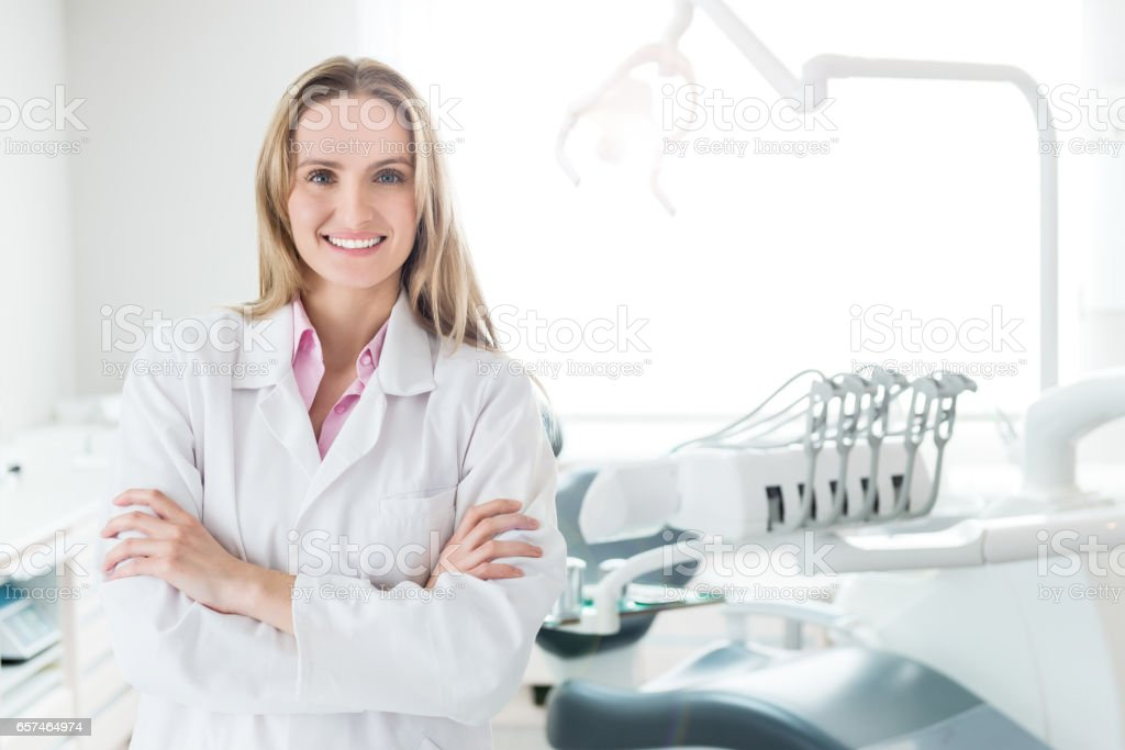 Charming & young medical expert stock photo