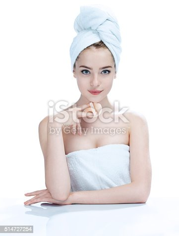 532331272 istock photo Charming young woman with perfect makeup, 514727254