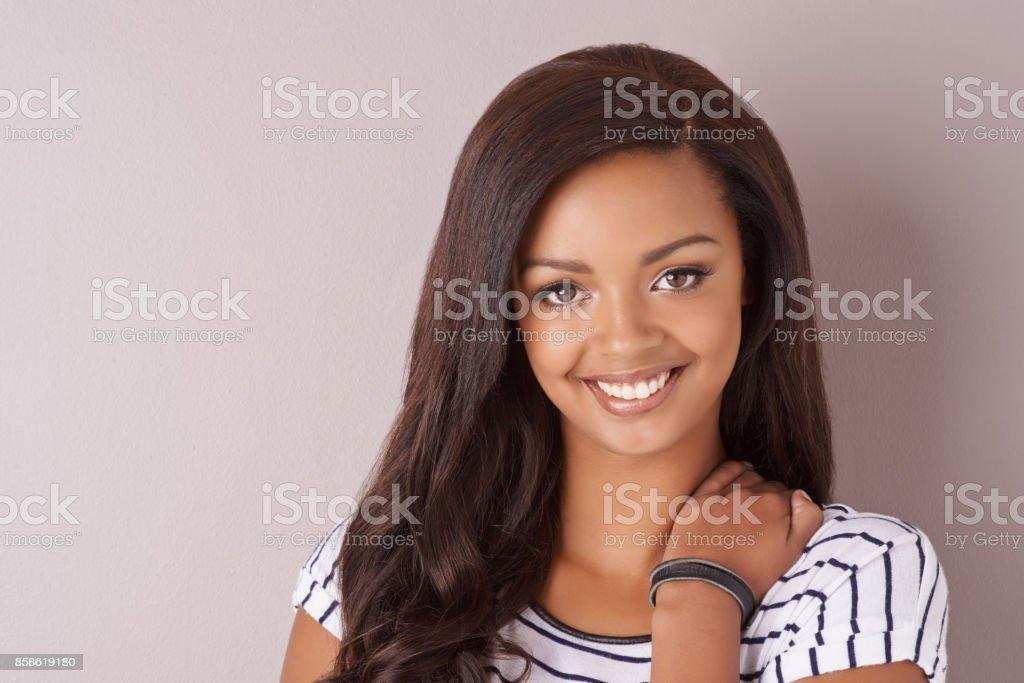 Charmingly cute stock photo