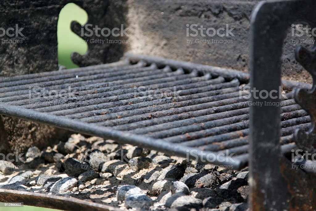 Charred Park Grill stock photo