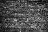 Charred wall of planks texture