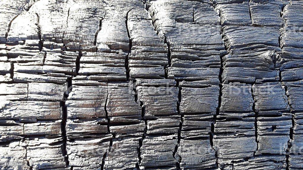 Charred wood surface background stock photo