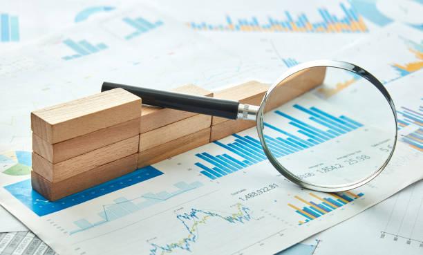 Chart Analyze stock photo