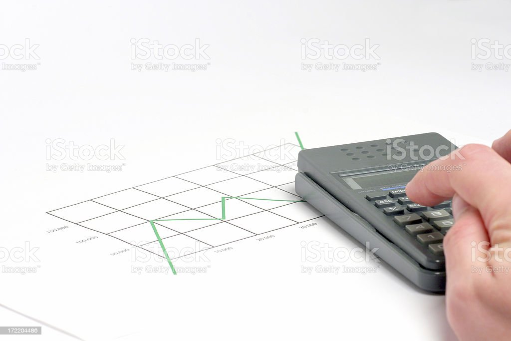 Chart and calculator royalty-free stock photo