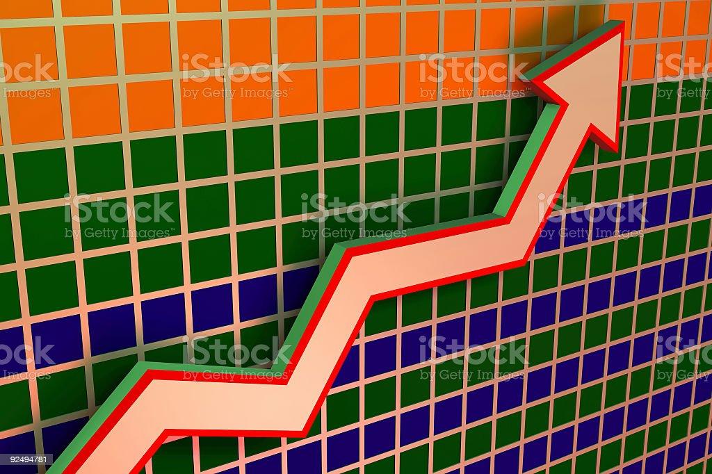 Chart and Graph Upward royalty-free stock photo
