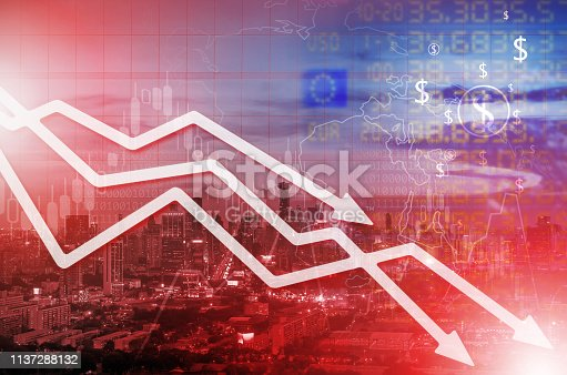 istock Chart businesses falling 1137288132