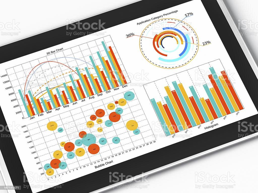 Chart Data Analyzing royalty-free stock photo