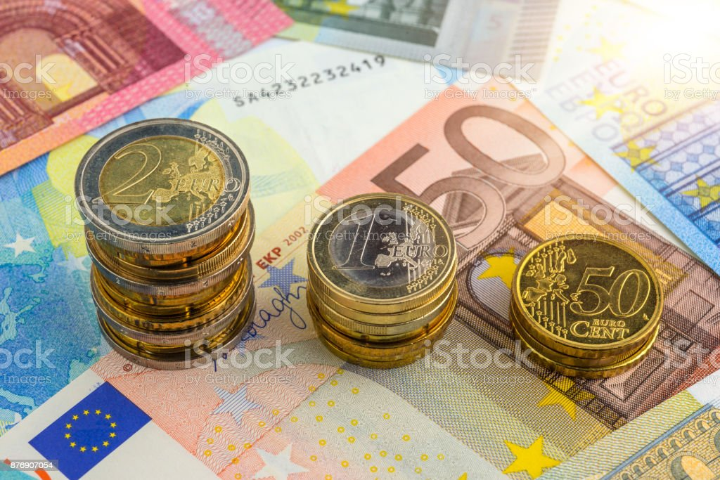 Chart Euro - Rise up stock photo