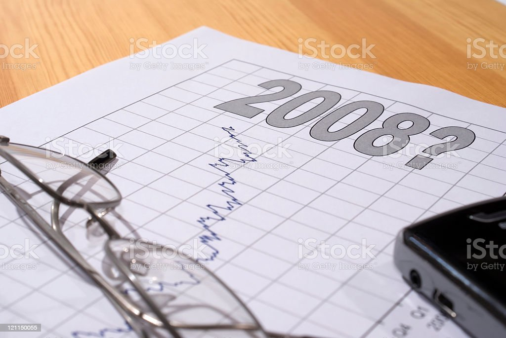 Chart for 2008 stock photo