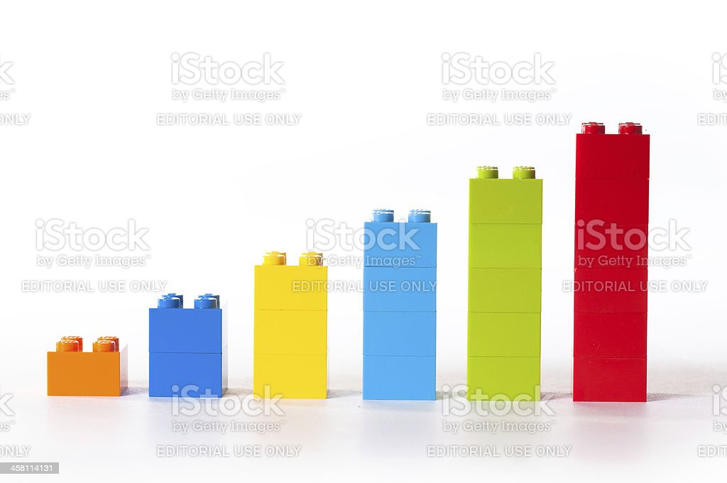 Chart from Lego royalty-free stock photo