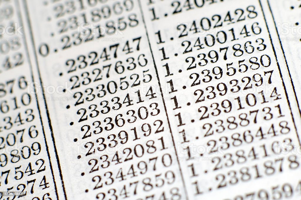 Chart numbers stock photo
