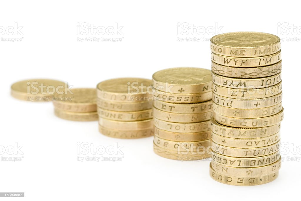 Chart of Coins stock photo