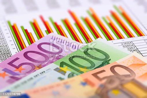 1158207931 istock photo Chart of stock market and exchange 1172774759