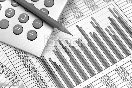 1158207931 istock photo Chart of stock market and exchange 1172784168