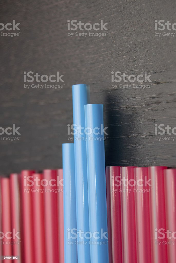 Chart Of Straws royalty free stockfoto