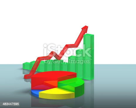 486439381istockphoto 3D chart on glass table 483447595