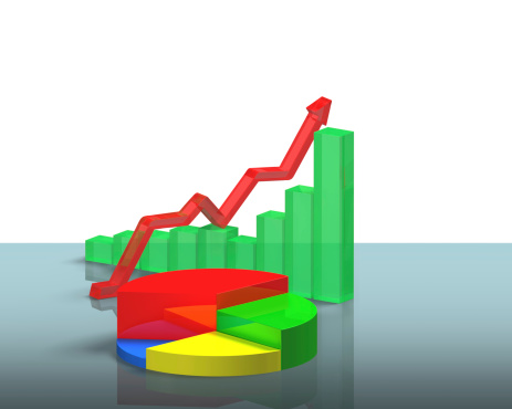 486439381 istock photo 3D chart on glass table 483447595
